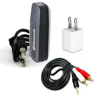 [Mã ELORDER5 giảm 10K đơn 20K] Bộ USB thu bluetooth BT- 163 4 trong 1 cho dàn amly ra loa