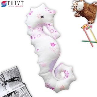 Gối ôm cá ngựa cao cấp cho bé 10 - Cotton Hàn Quốc - THIVI