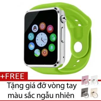Đồng hồ thông minh Smart Watch AW08 gắn sim độc lập (Xanh lá) + Tặng giá đỡ vòng tay thông minh màu
