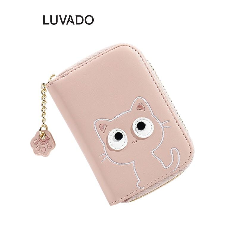 Ví nữ mini ngắn cầm tay TAOMICMIC nhỏ gọn bỏ túi cute dễ thương LUVADO VD398