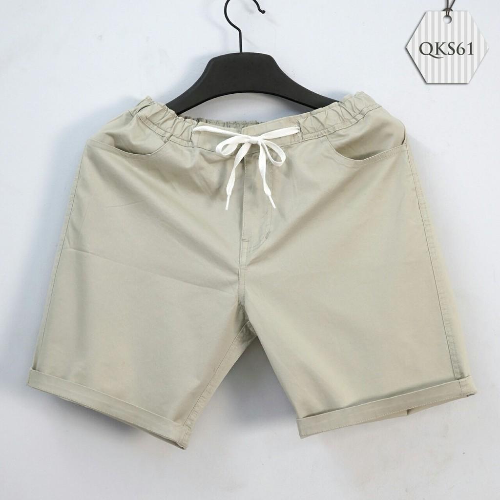 Quần short kaki nam lưng thun thời trang