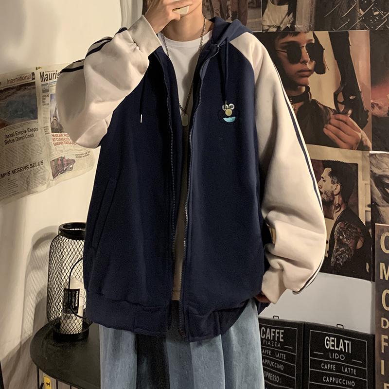 Áo khoác có nón bằng vải nhung phong cách học đường cho cả nam và nữ
