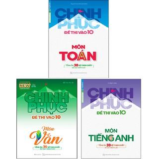 Sách Megabook - Combo Chinh phục đề thi vào 10 Môn Tiếng Anh + Văn + Toán
