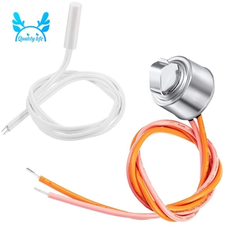 2 Pcs WR55X10025 Refrigerator Temperature Sensor Replace 914093, WR50X10068 Defrost Thermostat for GE Refrigerators