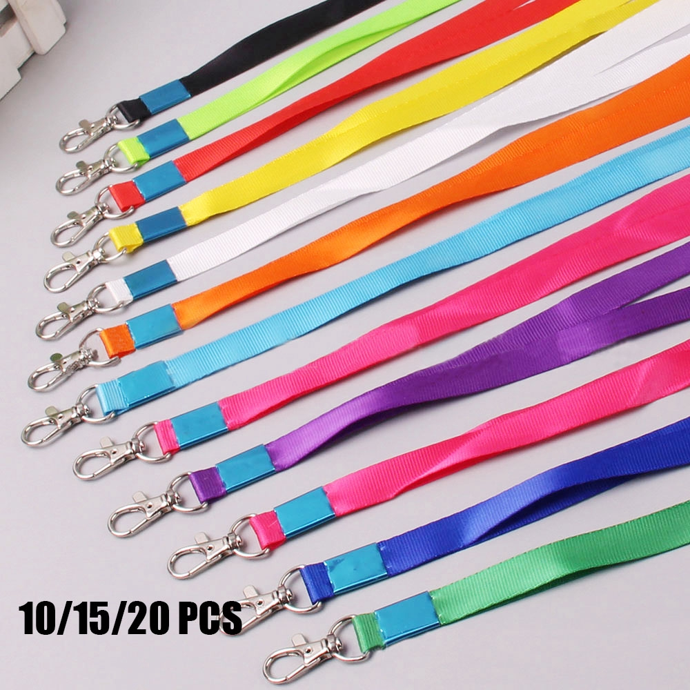 10/15/20pcs Keychain Nylon Metal Clip Business Indexes Neck Strap