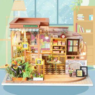 Mô hình nhà gỗ búp bê Dollhouse DIY – Kèm mica – S002 Rômantic Password
