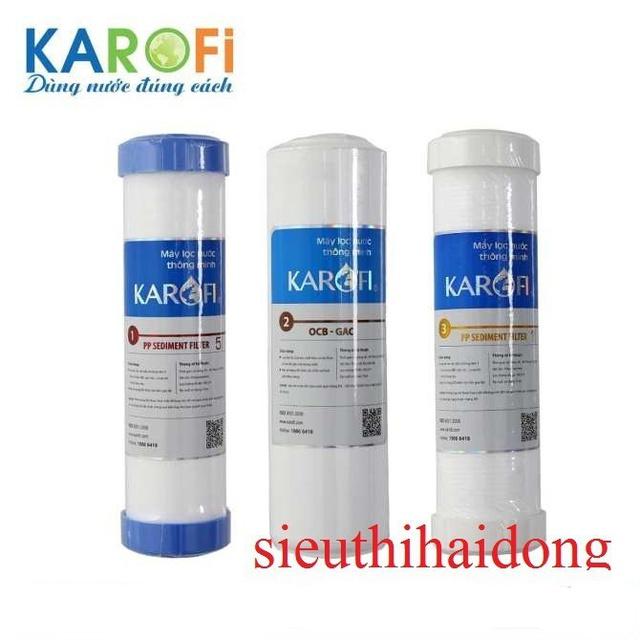 Bộ 3 lõi lọc nuớc Karofi Bộ lõi KAROFI cam kết chính hãng