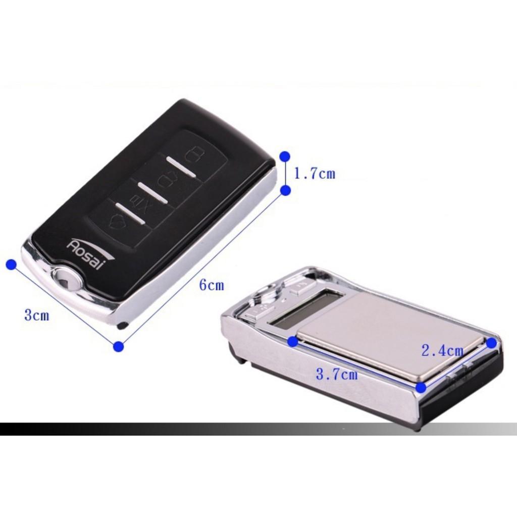 Cân tiểu ly điện tử mini khóa ô tô 100g+200g - 0,01g [B.205] Tặng 1 PIN CR2032