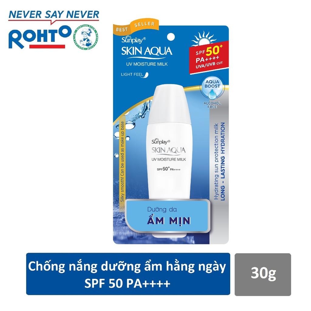 Sữa chống nắng hằng ngày dưỡng da giữ ẩm Sunplay Skin Aqua UV Moisture SPF50, PA+++ 30g - 3543231 , 965346178 , 322_965346178 , 83000 , Sua-chong-nang-hang-ngay-duong-da-giu-am-Sunplay-Skin-Aqua-UV-Moisture-SPF50-PA-30g-322_965346178 , shopee.vn , Sữa chống nắng hằng ngày dưỡng da giữ ẩm Sunplay Skin Aqua UV Moisture SPF50, PA+++ 30g