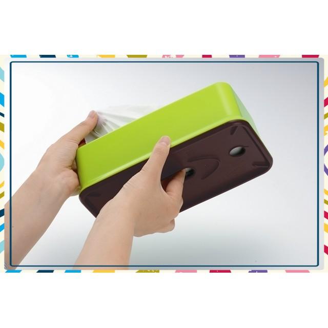 (Siêu Hấp Dẫn)Hộp đựng giấy ăn màu xanh Tiện Dụng