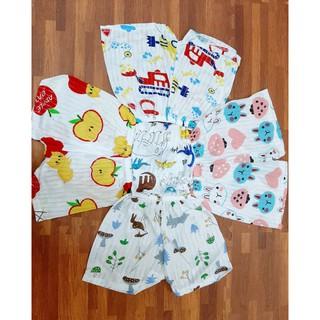 Quần chục cotton giấy cho bé trai / bé gái set 10 quần