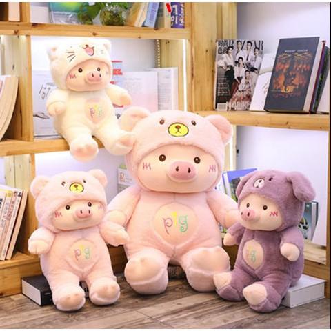 Gấu Bông Heo Đội Mũ Siêu Cute