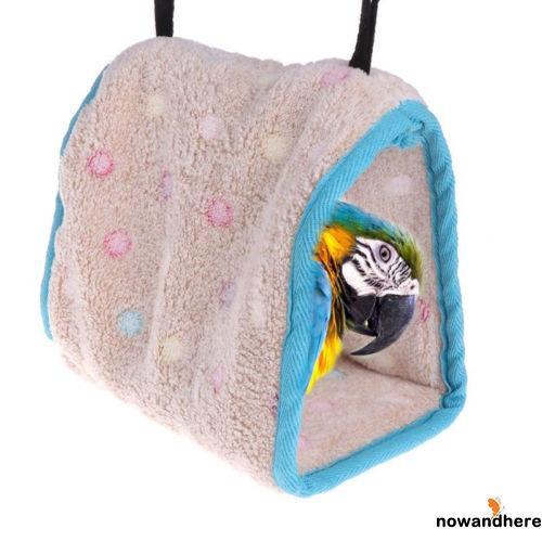 DDN-Warm Pet Hut Cage House Birds Nest For Parrot Parakeet Hammock Small Bird