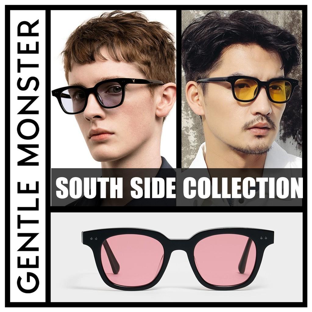 Giá bán [SIÊU HOT] BST Gọng Kính Nam Nữ Thời Trang Cao Cấp Fullbox 2020-Gentle Monster South Side sắc màu-Đen mắt xanh lá