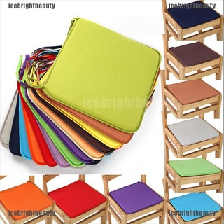 ICEB Cushion Office Chair Garden Indoor Dining Seat Pad Tie On Square Foam Patio UK
