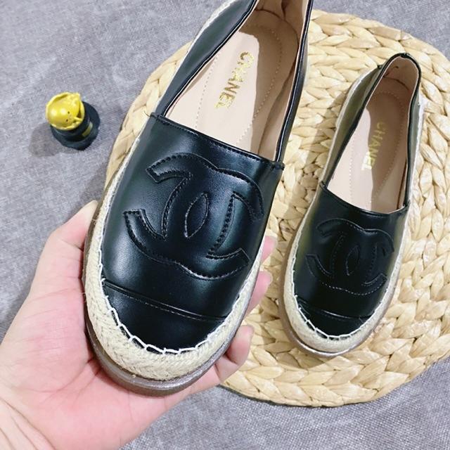 [Ảnh thật] Giày slip on đế doc viền cói da lì chữ X 2 màu siêu chanh xả hot trend năm nay