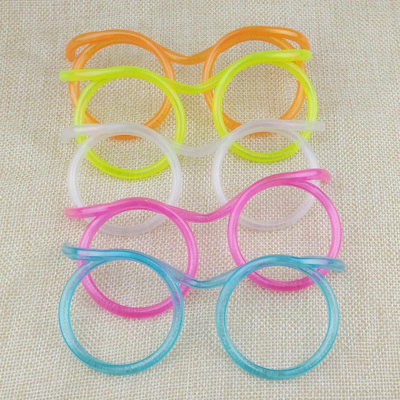 Glasses, straws, drinking water, funny, lazy, cute drinks, long glasses eyes For Baby Birthday Party FACCVN