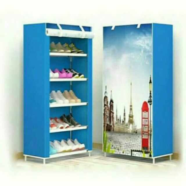 Tủ giày vải 3D 5 tầng