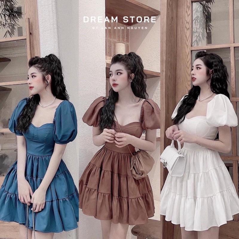 Mặc gì đẹp: Bồng bềnh với [Siêu Hot] Váy Babydoll Tay Phồng Cổ Vuông Cup Ngực, Đầm Dáng Xoè Tay Phồng Siêu Xinh Có Ảnh Thật Kèm Video
