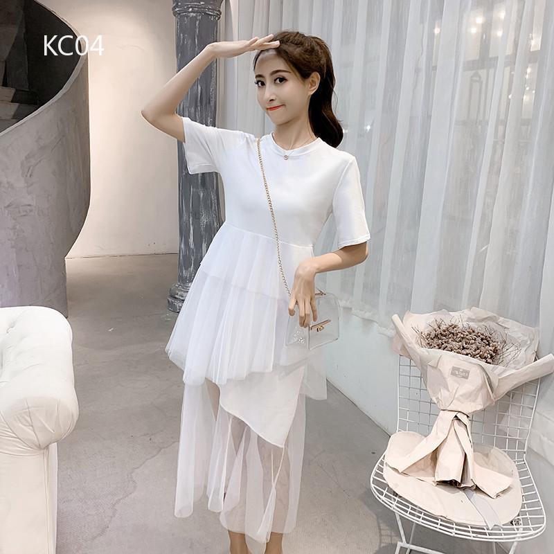 Đầm dài phong cách đơn giản cho nữ