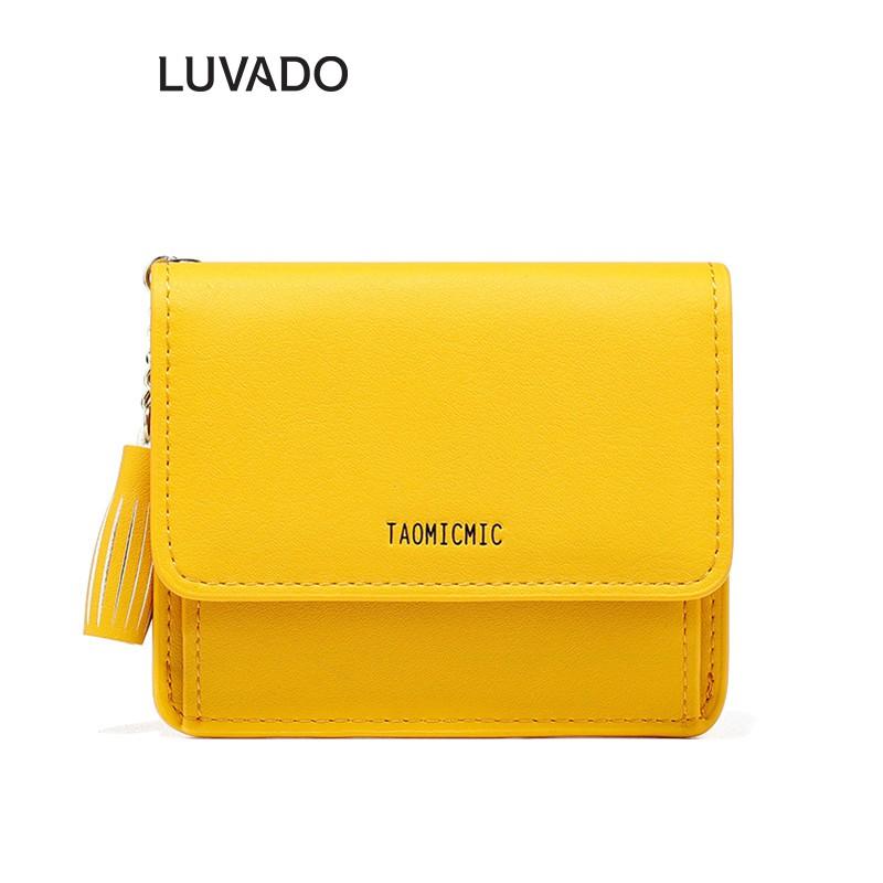 Ví nữ đẹp cầm tay mini cao cấp TAOMICMIC nhỏ gọn bỏ túi LUVADO VD358