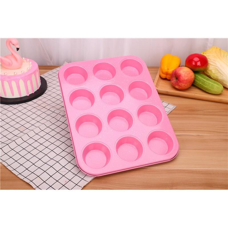 Khuôn nướng bánh cupcake 6 lỗ/ 12 lỗ chống dính