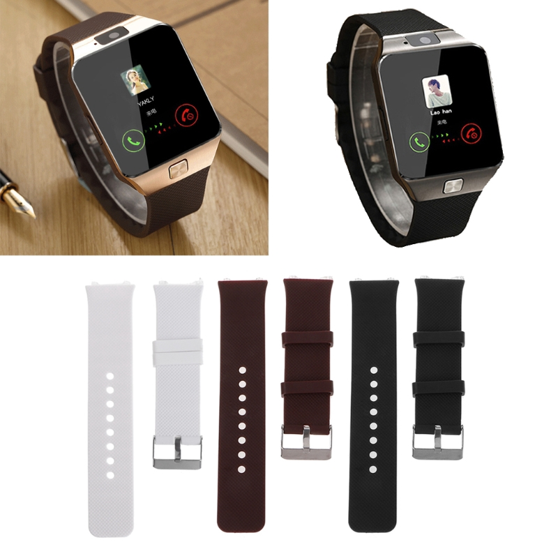 win♥Silicone Wrist Band Strap Metal Buckle Bracelet Replacement For DZ09 Smart Watch