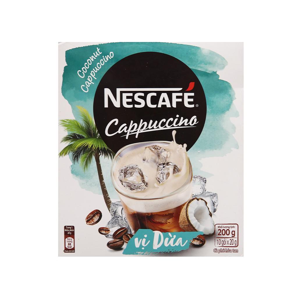 Cà phê Cappuccino NesCafe vị dừa 200g
