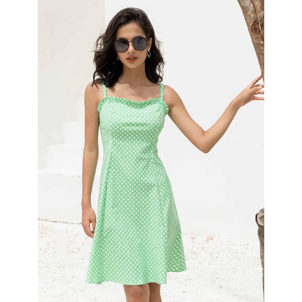Đầm Chấm Bi Xanh - YV LE & CO