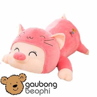 Lợn bông mềm nằm hàng nhập kiểu dáng ngộ nghĩnh, đáng yêu, quà tặng cho bé