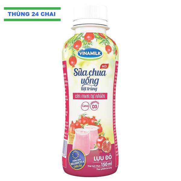 Sữa chua uống Vinamilk Lựu Đỏ 150ml: Thùng 24 Chai - 3389830 , 626576766 , 322_626576766 , 171600 , Sua-chua-uong-Vinamilk-Luu-Do-150ml-Thung-24-Chai-322_626576766 , shopee.vn , Sữa chua uống Vinamilk Lựu Đỏ 150ml: Thùng 24 Chai