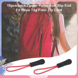 10pcs/pack Zipper Puller Anti Slip End Fit Rope Tag Fixer Zip Cord Tab Clip