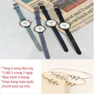 [TẶNG VÒNG ĐEO TAY XINH XẮN _ RẺ NHƯ SỈ] Đồng hồ nữ Doukou dây vải thời trang vintage thumbnail