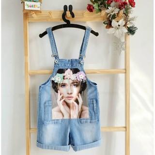 Yếm quần jean Quảng Châu cho bé gái size đại
