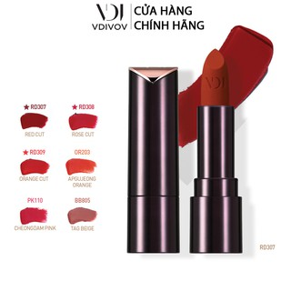 Son lì dưỡng ẩm VDIVOV Lip Cut Rouge Velvet 3.8g