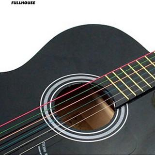 Bộ 6 dây đàn guitar màu sắc cầu vồng