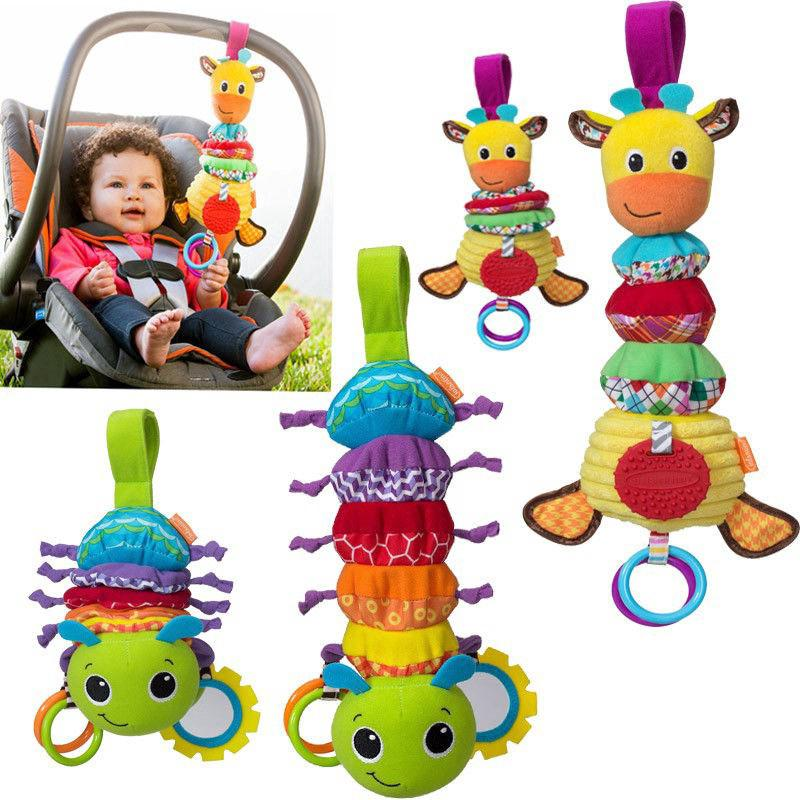 Baby Stroller Hanging Toy Hug & Tug Musical Toy Rattle Teether Toy