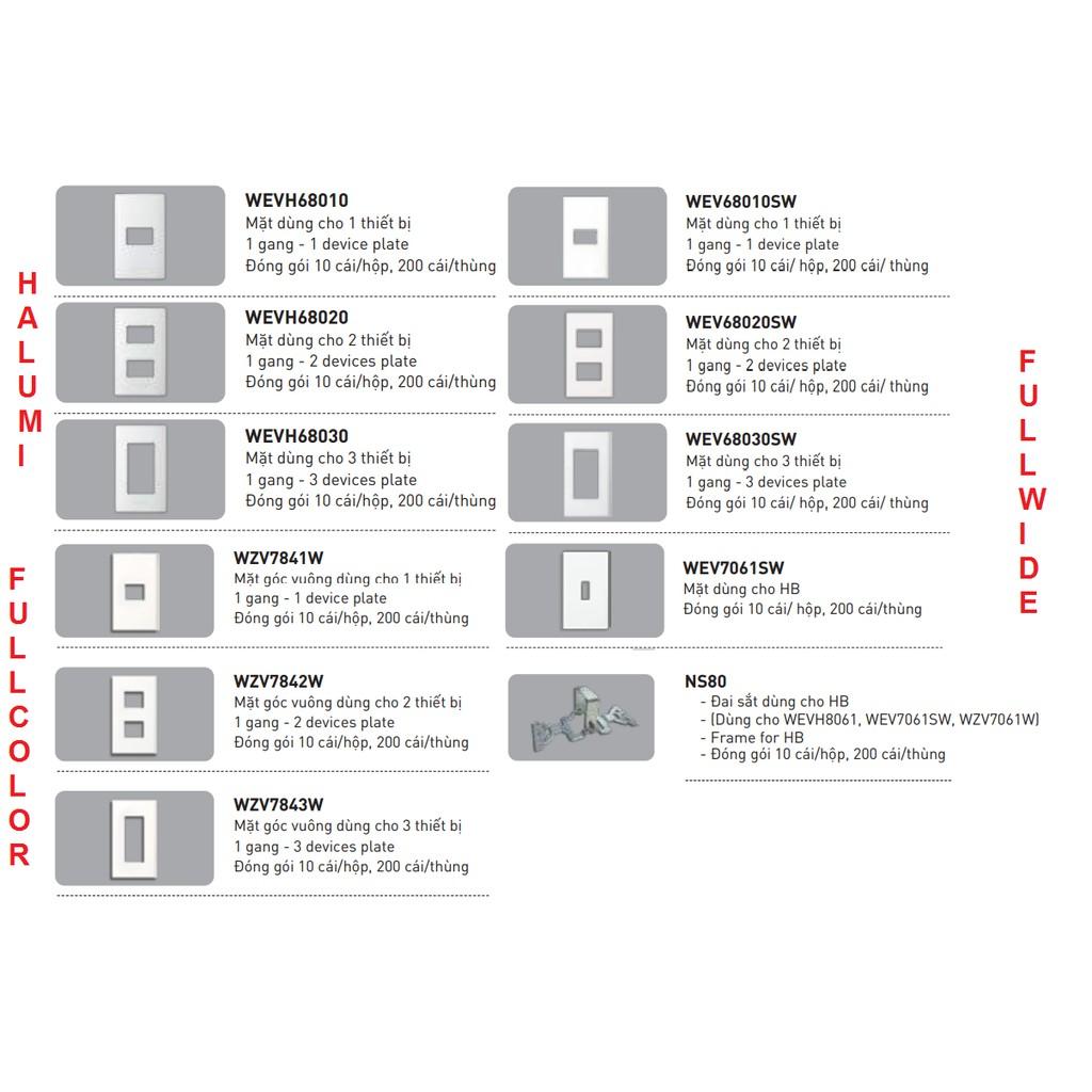 Mặt công tắc ổ cắm Panasonic Halumi Wide Full color