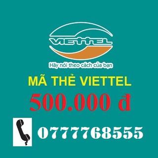 Thẻ Nạp Viettel 500k nạp tiền điện thoại trả trước và trả sau