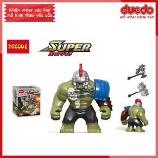Bigfig siêu anh hùng The Hulk - Đồ chơi Lắp ghép Xếp hình Mini Minifigures Big fig Super Hero - DECOOL 0281 thumbnail