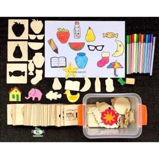 Khuôn vẽ gỗ cho bé