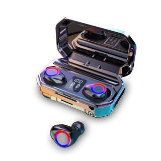 Tai Nghe Bluetooth Vitog QJ-M12 TWS Không Dây Có Đèn Led Hiển Thị Kèm Hộp Sạc 2200mah