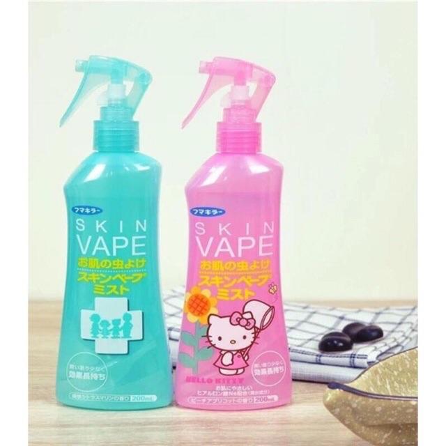 Xịt chống muỗi + côn trùng Skin Vape Nhật bản 200ml