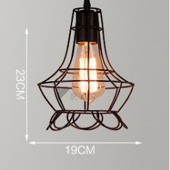 Đèn thả khung sắt nghệ thuật, đèn thả bàn ăn TSIB (gồm bóng)