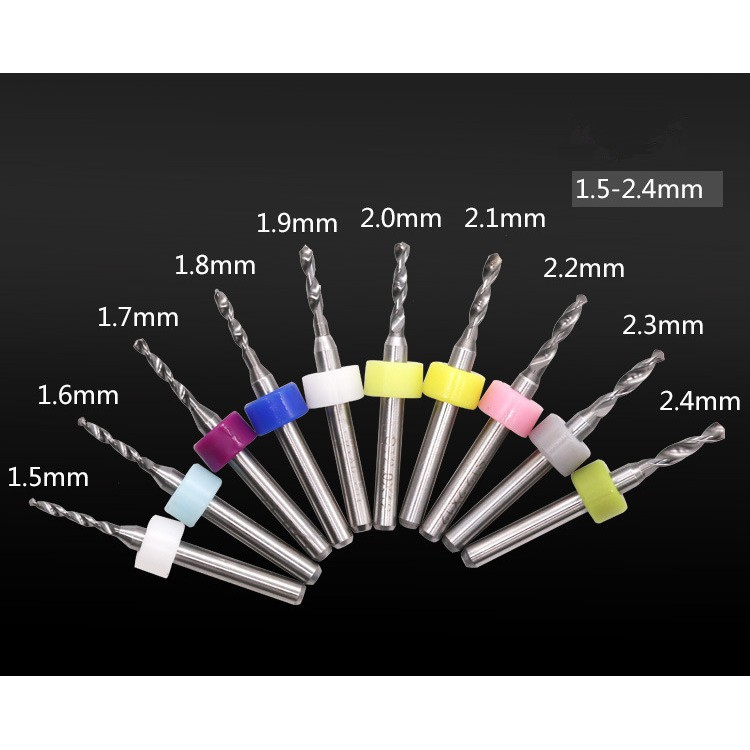 Bộ 10 mũi khoan PCB 1.5-2.4mm - 3157086 , 1220555267 , 322_1220555267 , 190000 , Bo-10-mui-khoan-PCB-1.5-2.4mm-322_1220555267 , shopee.vn , Bộ 10 mũi khoan PCB 1.5-2.4mm