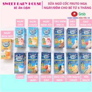 Sữa đêm Fruto Nyannyan Nga ngày đêm 200ml tăng cân cho bé từ 6 tháng. Date 8/2021 – Sweet Baby House