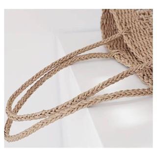 Túi cói đan thưa ô vuông xuất Hàn