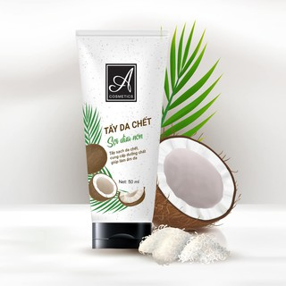 Tẩy da chết muối sợi dừa non dành cho face ,50ml, tẩy sạch da chết, cung cấp dưỡng ẩm, giúp làm mềm mịn da thumbnail