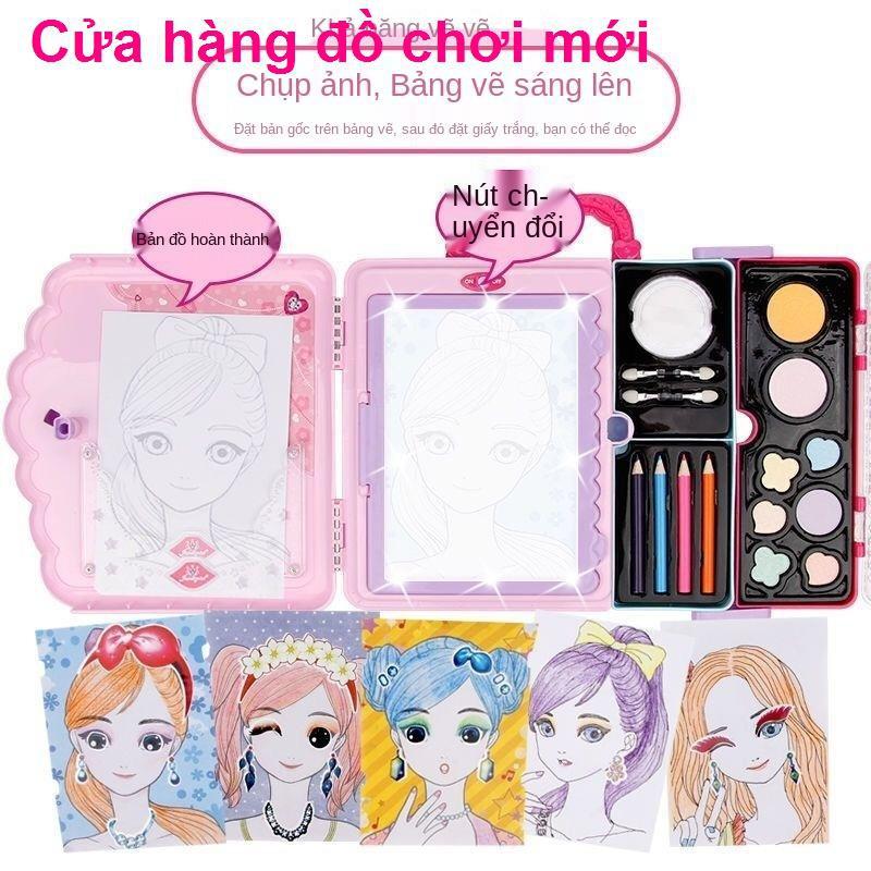 Đồ chơi trẻ em bộ mỹ phẩm không độc hại hộp vẽ đẹp cô bé công chúa nhà quà sinh nhật