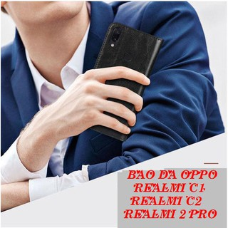 Bao Da Oppo Realmi C1- Realmi C2-Realmi 2 Pro ( Có Ngăn Để Tiền, Thẻ).